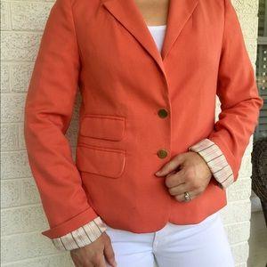 Peach Anthropologie blazer